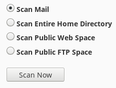 Scan now cpanel